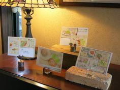 2014_08_22_cards_01_s 松江のボンテンピさんが絵を飾ってくださいました。  my works in my favorite restaurant.