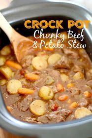 The Country Cook: Crock Pot Chunky Beef & Potato Stew