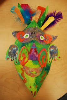 Mayan masks - Fun art projects for kids