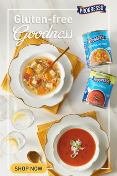 The most exquisite way to eat gluten-free is with Progresso! Baked Salmon Recipes, Carrot Recipes, Lentil Recipes, Eggplant Recipes, Chicken Wing Recipes, Sweet Potato Recipes, Healthy Chicken Recipes, Soup Recipes, Goulash Recipes