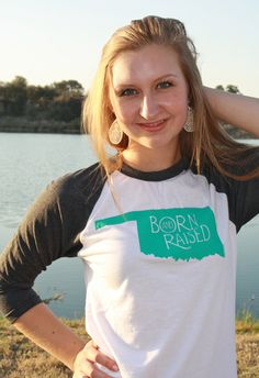 OKLAHOMA Born & Raised State via Etsy. #oklahoma #shirt #pride
