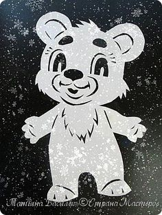 Так мы оформили в нашей группе окошечки к Новому году:)  Первое окно. фото 17