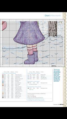 Winter wonderland cross stitch