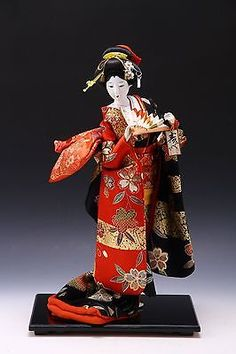 Japanese GEISHA Doll -Sukiyo Doll- Nice Kawaii Kanzashi