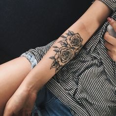48 Beautiful Rose Tattoo Ideas For Women Revelist, Flower Tattoos What They Mean Studio City Tattoo Los. 12 Seriously Pretty Birth Flower Tattoos To Celebrate Yourself. Trendy Tattoos, Cute Tattoos, Beautiful Tattoos, Body Art Tattoos, Small Tattoos, Tattoos For Women, Sleeve Tattoos, Tatoos, Arm Tattos