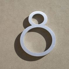 Contemporary Font House Number Aluminum Number Eight - 6 inch Contemporary House Numbers, Contemporary Fonts, Garden Plaques, Door Furniture, Signage Design, Letters And Numbers, Home Improvement, Typography, Lettering