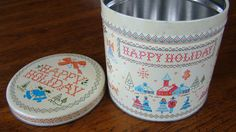 Vintage Holiday Tin by faintingbee on Etsy