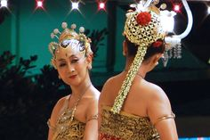 a traditional Javanese dancer
