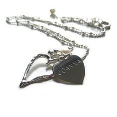 Personalised charm pendant necklace #jewellery #heart #thepersonalisedgiftshop £19.99
