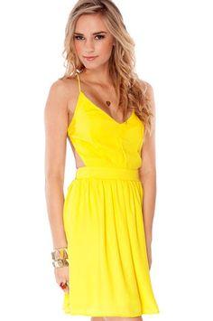 Swing, Swing, Swing Dress in Yellow $42 at www.tobi.com