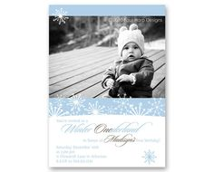 Winter Birthday invitation... makes me want to have a baby in the winter!