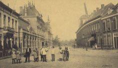 Breda - van Coothplein - Stadsschouwburg Concordia - Op achtergrond de molen Het Fortuijn - Rond 1900