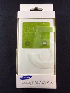 SAMSUNG Galaxy S5 S View Cover Folio Case | eBay Samsung Galaxy S5, Cases, Leather, Ebay
