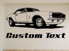 Low Rider Car Wall Decal Muscle Car Decals Muscle Car Sticker - Lightning mcqueen custom vinyl decals for carlightning mcqueen camaro car decals unique items racing