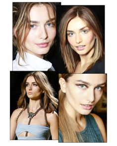 Andreea Diaconu in 10 make-up looks