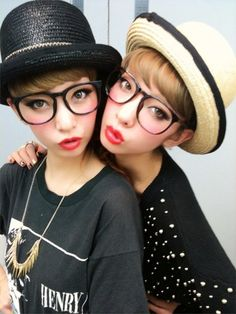 Amiaya, Makeup, Glasses, short fringe / bangs, #JapaneseFashion