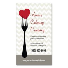 206 best catering business cards images on pinterest in 2018 forked heart restaurantcatering business card reheart Choice Image