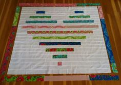 Heart Quilt Pattern by Quilting in the Rain | U Create - super tutorial with lengths of strips.