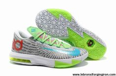 Sale Cheap Nike Zoom KD 6 White Grey Green Red Blue Fashion Shoes Store