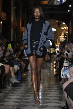 1666fb00eae6 Naomi Campbell walks the runway during Miu Miu 2019 Cruise Collection Show  at Hotel Regina on June 2018 in Paris