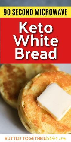 You're going to love this white bread version of the 90 second keto bread! This is the BEST 90 second keto bread you can try! It is amazing for toast, sandwiches and so much more! Easy Keto Bread Recipe, Keto Mug Bread, Keto Mug Cake, Low Carb Bread, Low Carb Keto, Mug Recipes, Low Carb Recipes, Bread Recipes, Keto Friendly Bread