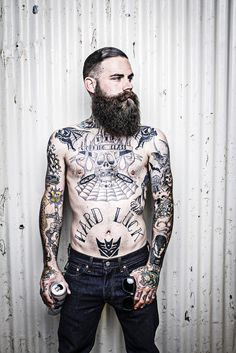 so good that I saw it again and had to post it again!! <3 black thick full beard mustache undercut lots of good tattoos tattooed tattoo ink bats misfits decepticons transformers handsome sexy beards bearded man men mens' style stylish #weare138 #beardsforever