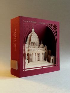 Saint Peter's Basilica, Greeting Card, Italian Souvenir, pop up card, decor,  Rome, Italy/ Church invitation card