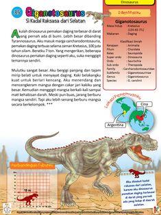 Giganotosaurus adalah dinosaurus pemakan daging terbesar.