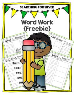 Free Word Work Printables for ANY WORD LIST!!!