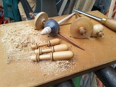 handturned tools for spinners from Whimsy Wood & Wool, Christchurch, New Zealand.