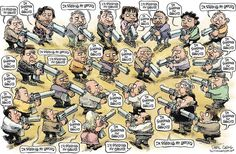 """""""I'm standing my ground."""" Mutually assured destruction courtesy of the NRA"""