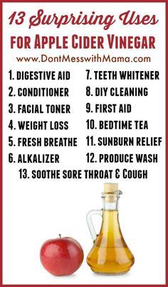 Surprising Uses for Apple Cider Vinegar (No. 3 is My Favorite) 13 Surprising Uses for Apple Cider Vinegar (No. 3 is My Favorite) - 13 Surprising Uses for Apple Cider Vinegar (No. 3 is My Favorite) - Apple Cider Vinegar Remedies, Apple Cider Vinegar Benefits, Natural Health Remedies, Natural Cures, Natural Foods, Holistic Remedies, Homeopathic Remedies, Natural Products, Natural Healing