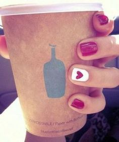 Cute Nails, heart, perfect for valentine's day!