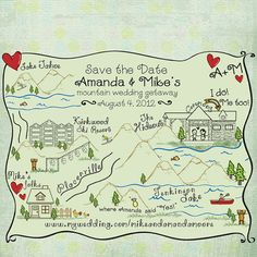 Wedding Map save the date