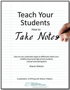 Easy instructions for weekly lessons to incrementally teach note taking from auditory sources like videos or professors. 33 pages.  Grade level: 7th - 12th