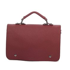 UMAZON VHB200026C5 PU leather College Wind messenger Handbag rectangular cross-section -- You can get additional details at the image link. http://www.amazon.com/gp/product/B01EYFAC18/?tag=clothing8888-20&pij=290916200447