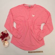 """Pink by Victoria's Secret pink pullover Pink pullover sweatshirt, size S, overall length 27.5"""", 73% cotton/23% polyester, machine wash cold. No zippers or pockets. Worn twice so it's in excellent condition. No damage/fraying/stains. Has been cleaned and stored in a non-smoking home. Perfume not included. No trades or PP. *15% off bundles of 2+ items!* PINK Victoria's Secret Tops Sweatshirts & Hoodies"""
