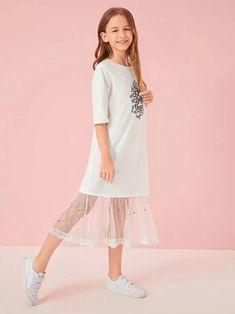 Kids Dress Wear, Dresses Kids Girl, Kids Outfits Girls, Girls Fashion Clothes, Teen Fashion Outfits, Fashion Wear, Kids Fashion, Girl Outfits, Cord Pinafore Dress