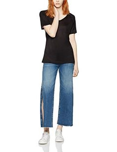 FIND Women's Cropped Fine Jersey T-Shirt: Amazon.co.uk: Clothing