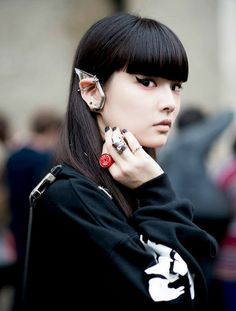 Kozue Akimoto before Undercover Paris Fashion Week 2014