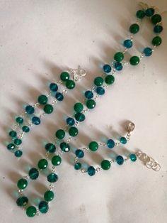 Un preferito personale dal mio negozio Etsy https://www.etsy.com/it/listing/460148724/parure-in-agata-verde-e-cristalli-su