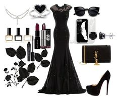 """""""Untitled #439"""" by moniquedawson09123 ❤ liked on Polyvore featuring Christian Louboutin, Yves Saint Laurent, Kevin Jewelers, BERRICLE, Smashbox and Balmain"""