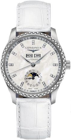 Longines Watch Master Collection Ladies #bezel-diamond #bracelet-strap-alligator #brand-longines #buckle-type-push-button #case-depth-11-5mm #case-material-steel #case-width-36mm #date-yes #day-yes #delivery-timescale-1-2-weeks #description-done #dial-colour-white #discount-code-allow #gender-ladies #l25030873 #luxury #moon-phase-yes #movement-automatic #official-stockist-for-longines-watches #packaging-longines-watch-packaging #subcat-master-collection #supplier-model-no-l2-503-0-87-3…