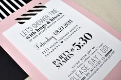 Custom Bridal Shower Invitations using Washi Tape