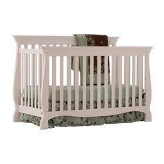 Check out the Storkcraft Baby Carrara 4 in 1 Fixed Side Convertible Crib from BabyAge.com!