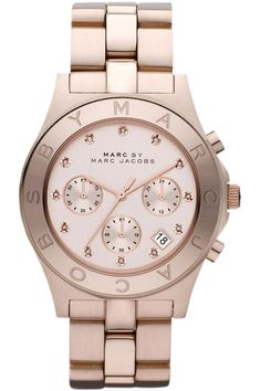f7987db353 Marc by Marc Jacobs Watch, Women's Chronograph Blade Gold-Tone Stainless  Steel Bracelet Jewelry & Watches - Watches - Macy's