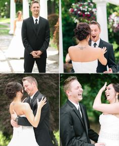 Photo: Clane Gessel Photography // Featured: The Knot Blog I love the first one is 2 girls. Just saying (: <3 #loveislove