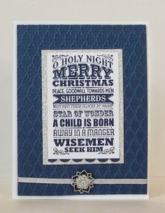 stamping sanity: O Holy Night