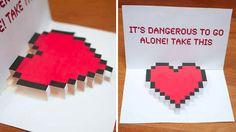 geeky valentines card
