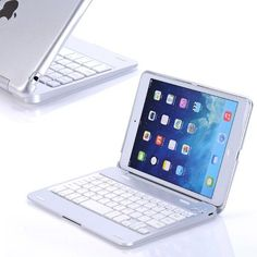 Folio Aluminum Wireless Bluetooth Keyboard Flip Stand Case With For iPad Mini Ipad Mini Cases, Ipad Mini 2, Ipad Case, Ipad Mini Accessories, Iphone Accessories, Laptop Camera, New Inventions, Bluetooth Keyboard, Cute Cases